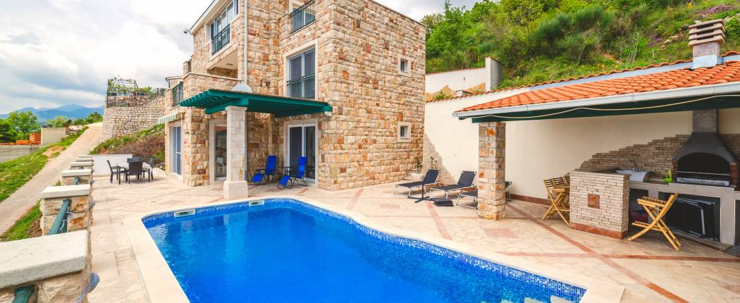 Stone house with swimming pool