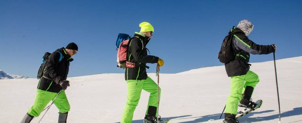 Snowshoe hiking tours during the day and night Kolasin
