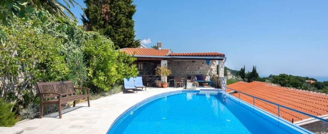 Sunset Villa Rezevici Montenegro pool