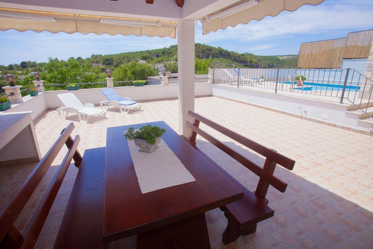 Holiday house with pool Selca, island Brac, Dalmatia, Croatia