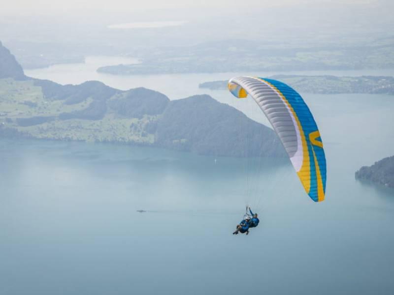 Sky riders paragliding Lisca, Sevice, Slovenia