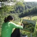 Tečaj risanja portreta, Motovun, Istra, Hrvaška