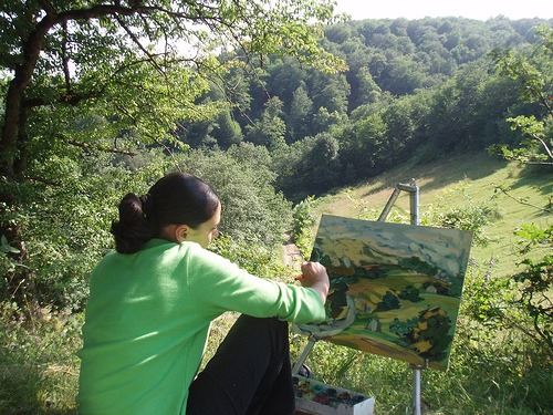 Tečaj risanja krajine, Fažana, Istra, Hrvaška