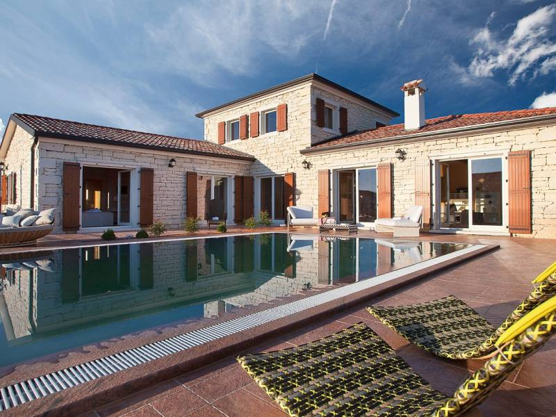 Villa with pool near Svetvincenat,  Istria, Croatia
