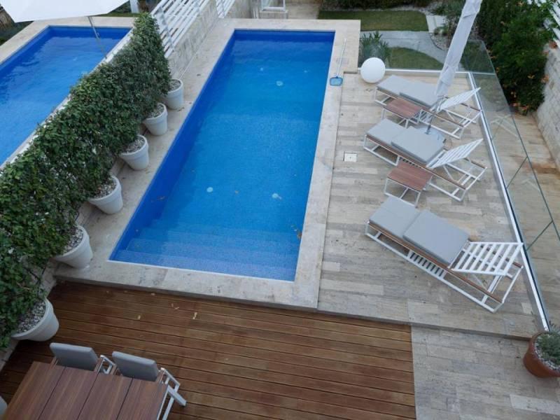 Villa di lusso con piscina, direttamente sul mare, Petrcane, Zadar, Dalmazia, Croazia