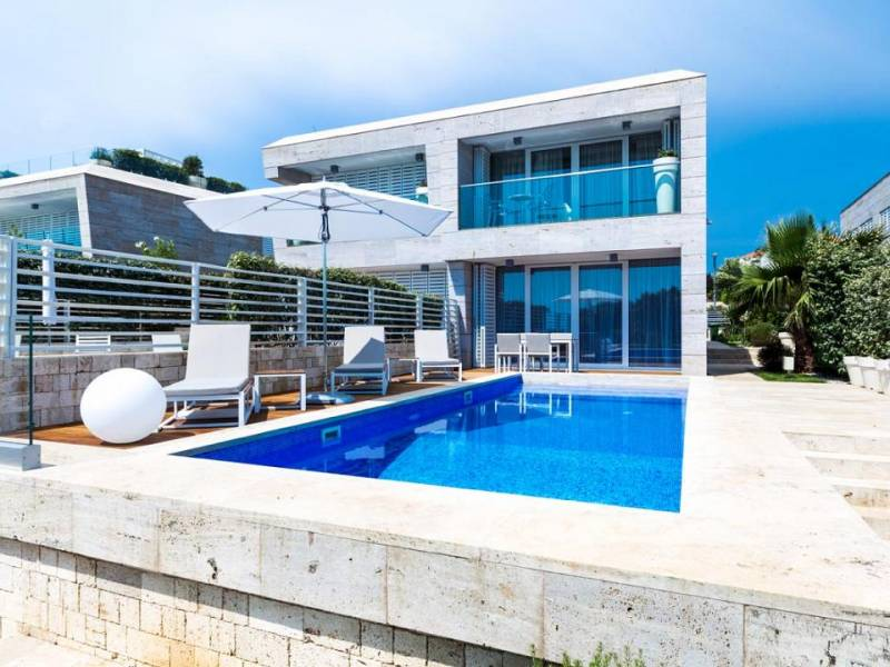 Villa with pool direct on the sea, Petrcane, Zadar, Dalmatia, Croatia