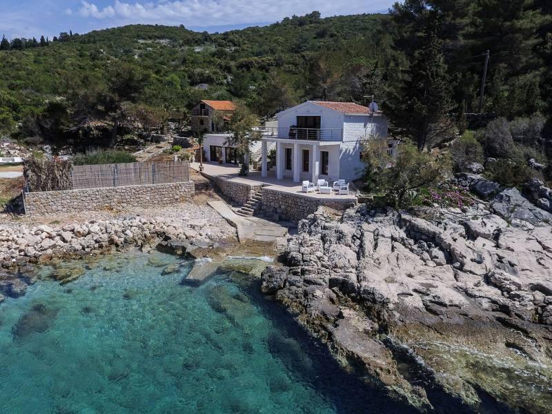 Luxury villa with swimming pool on the island of Hvar, by the sea, Dalmatia, Croatia