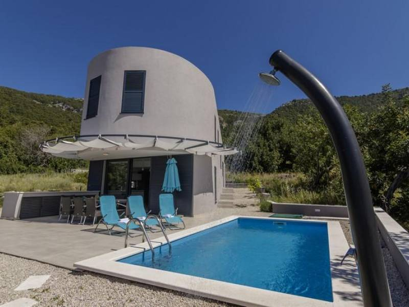 Luxury villa with pool, island of Vis, Dalmatia, Croatia