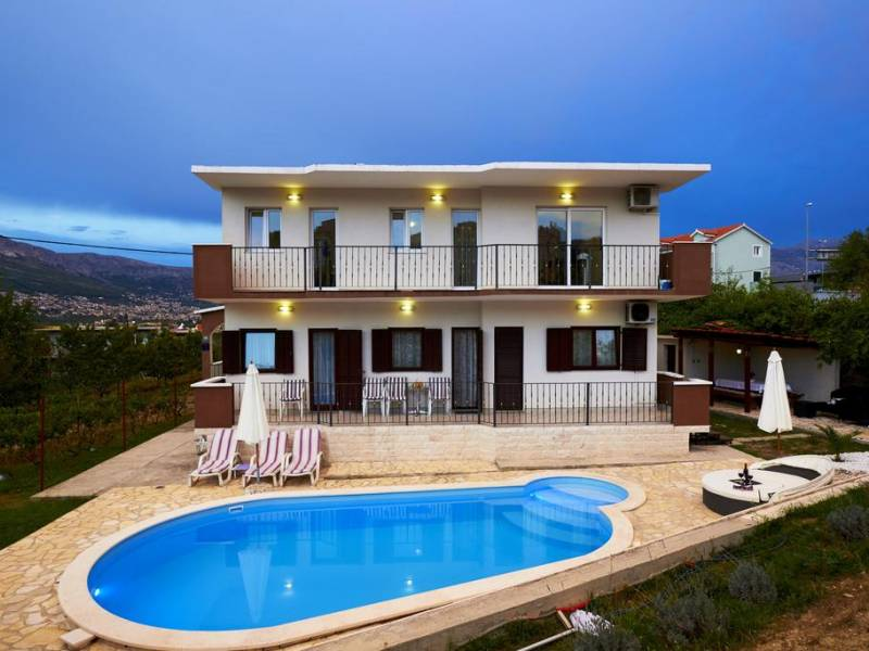 Holiday house with pool in Split, Dalmatia, Croatia