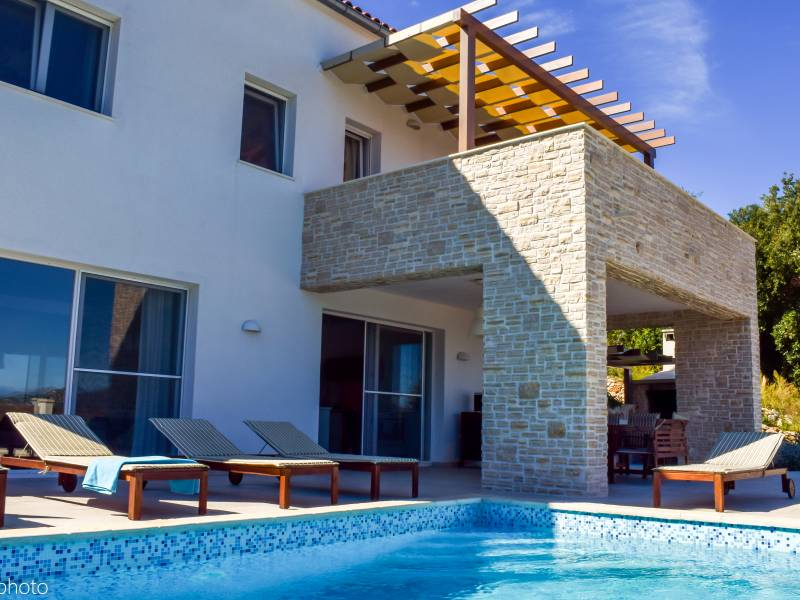 Villa with pool and beautiful sea view on the island of Iž, Dalmatia, Croatia