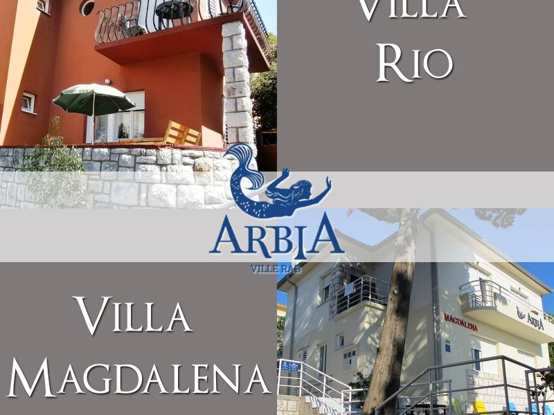Villas Arbia, rooms Rio and Magdalena, Rab, Croatia