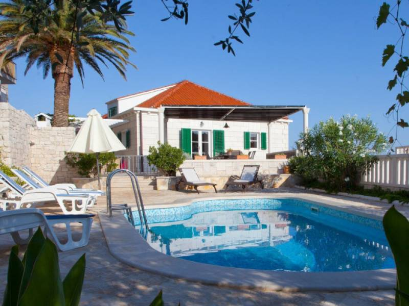 Villa with pool, island Brac, Dalmatia, CroatiaSumartin
