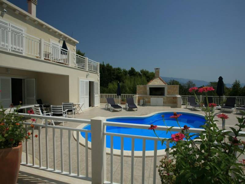 Villa with pool on Sumartin, island Brac, Dalmatia, Croatia
