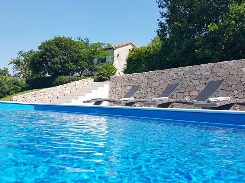 Villa with pool, Roc, Istria, Croatia