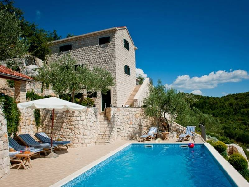 Holiday house with pool in Slivno, Dalmatia, Croatia