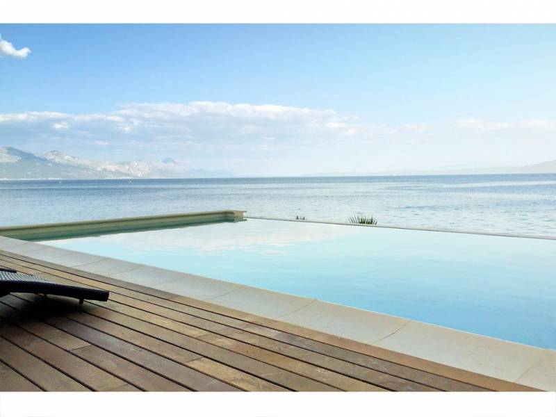 Villa Luna with pool, direct at the sea, island Brac, Dalmatia, Croatia