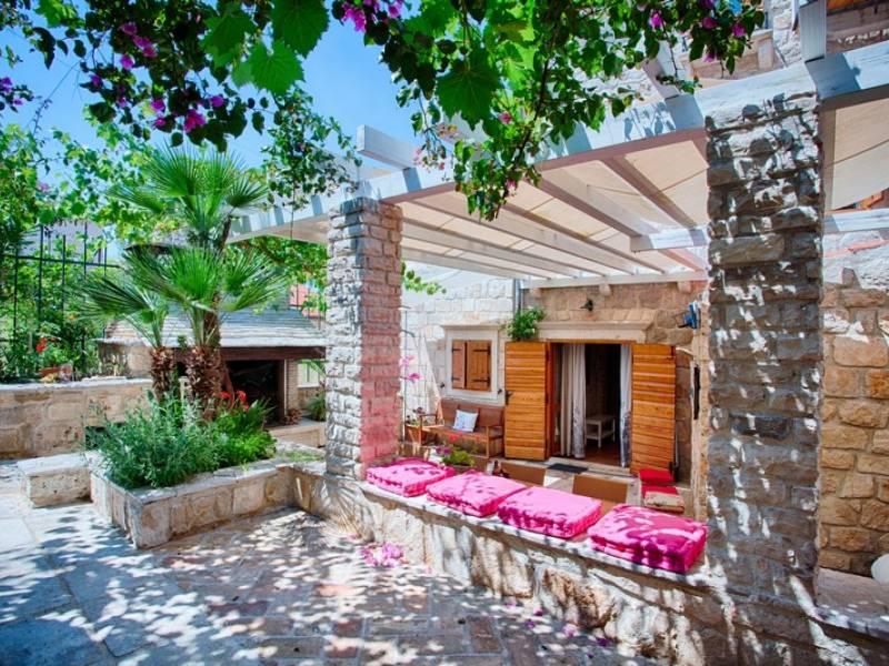 Villa Komiza, lile Vis, Dalmatie, Croatie Private garden