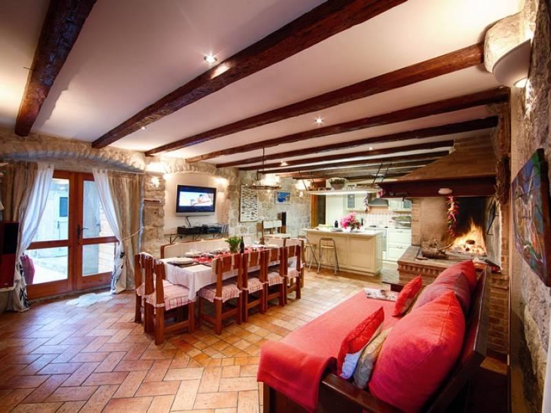 Počitniška hiša Komiza, Otok Vis, Dalmacija, Hrvaška Living room - ground floor