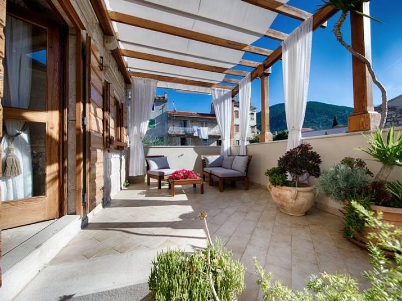 Počitniška hiša Komiza, Otok Vis, Dalmacija, Hrvaška Terrace