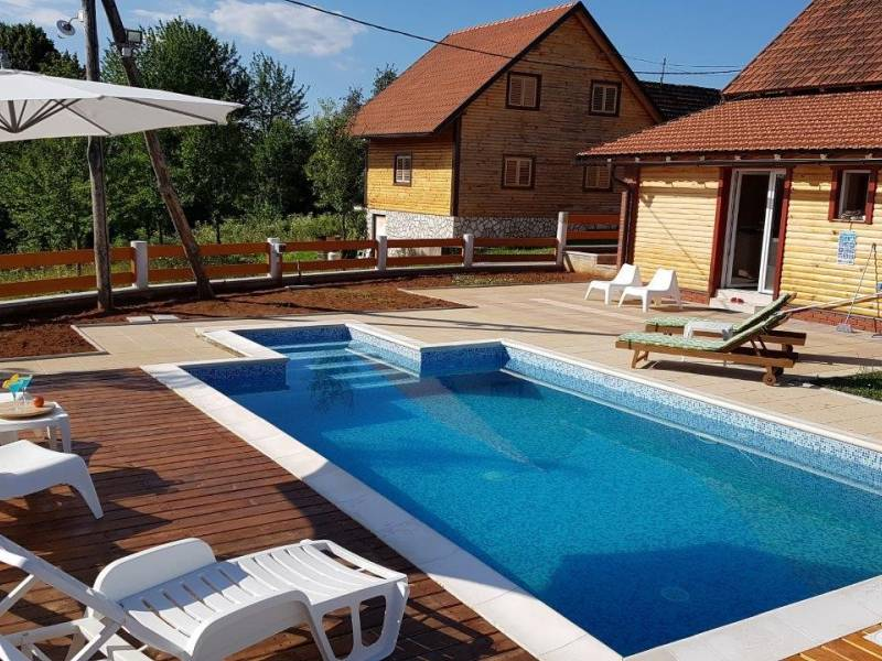Wellness holiday house with pool Gorski Kotar