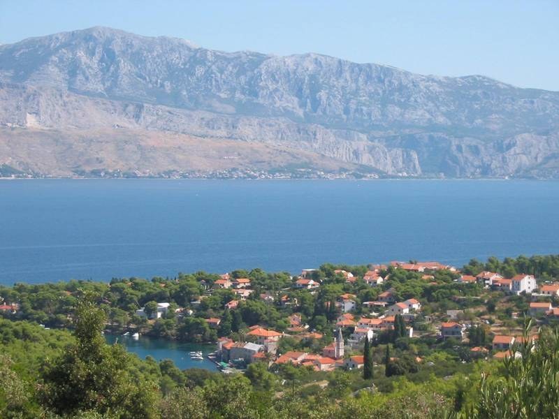 Holiday house with pool Splitska, island Brac, Dalmatia, Croatia
