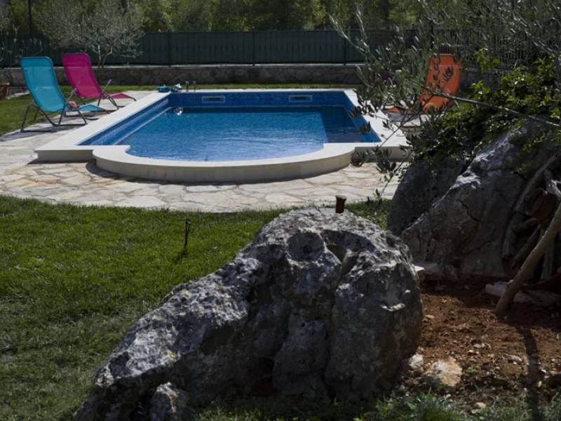 Holiday house with pool in Bristivica, Trogir, Dalmatia, Croatia